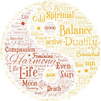 Spiritual Yin Yang Word Art