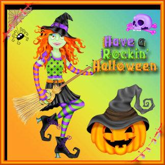 Halloween Rockin Witch