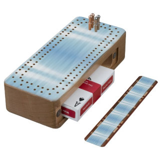 A real wood cribbage board