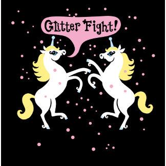 """Glitter Fight Poster Print"""