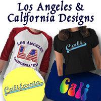 Los Angeles and California Logo Art