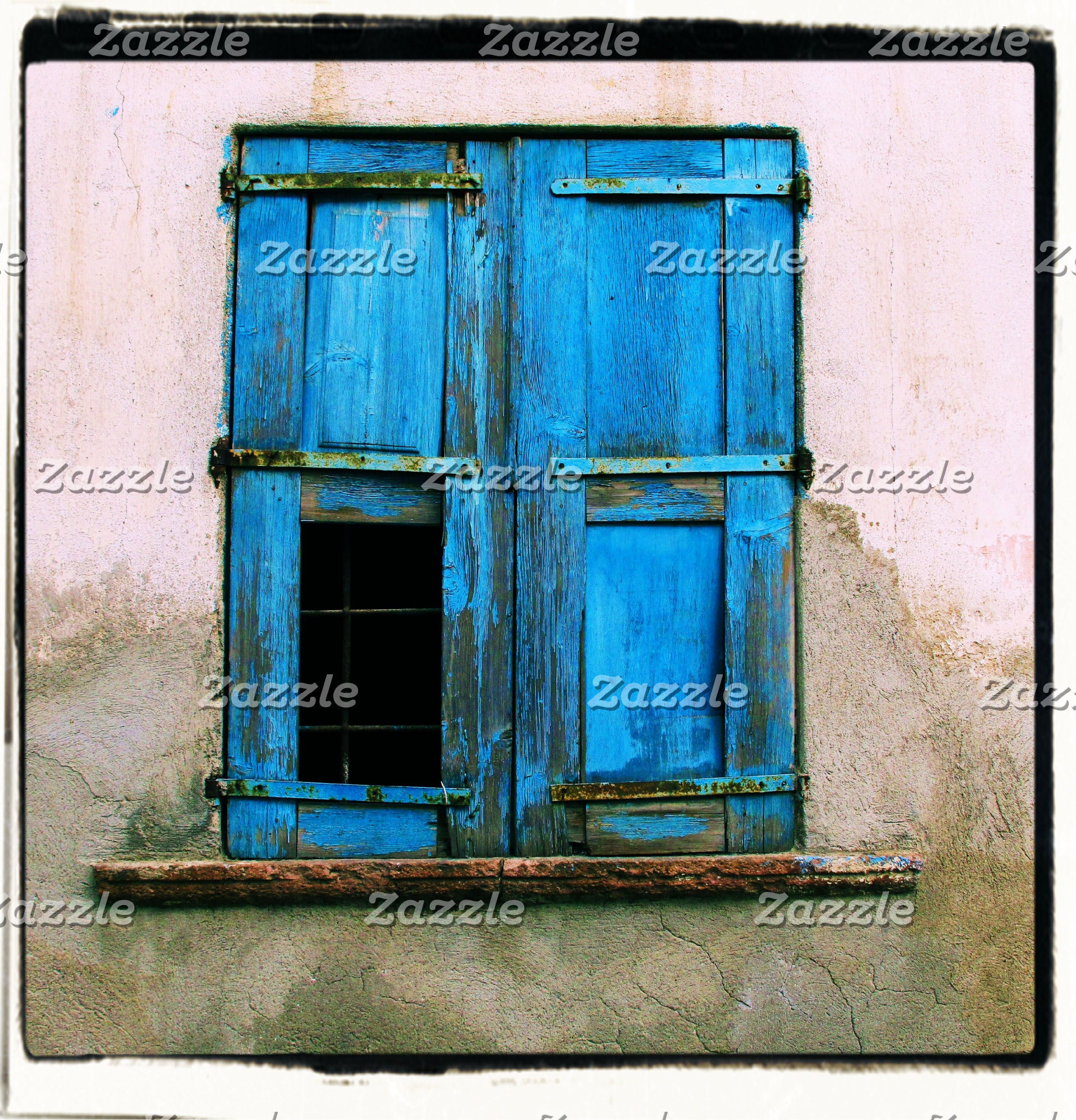 Greek Blue Window Shutters, Crete