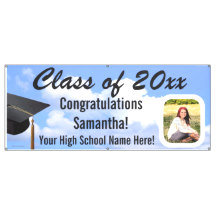 Graduation Photo Vinyl Banners, Yard Sign Printing