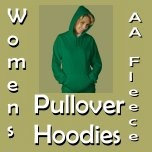 American Apparel Fleece Pullover Hoodies for Women
