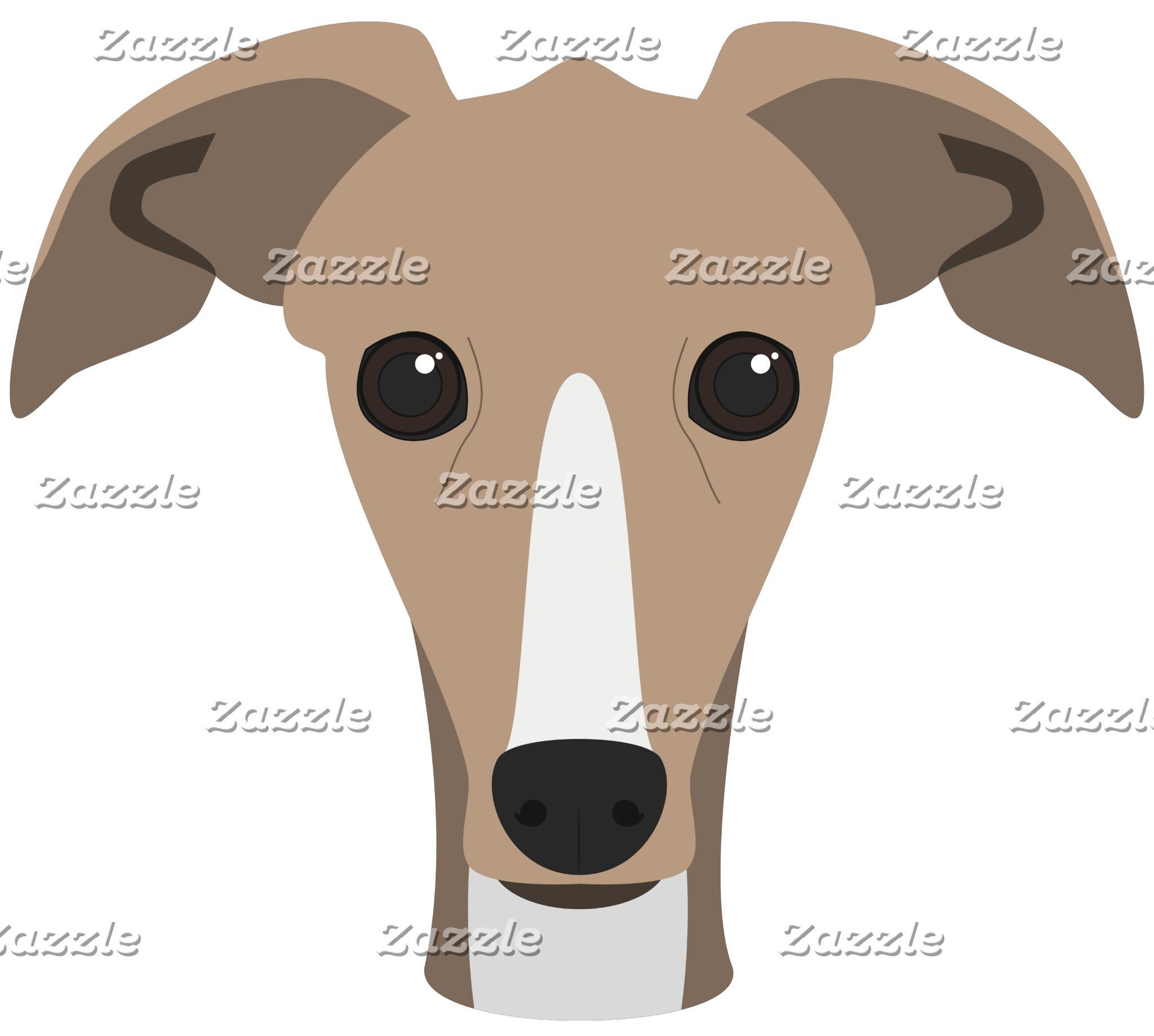 Greyhound Dog Portrait