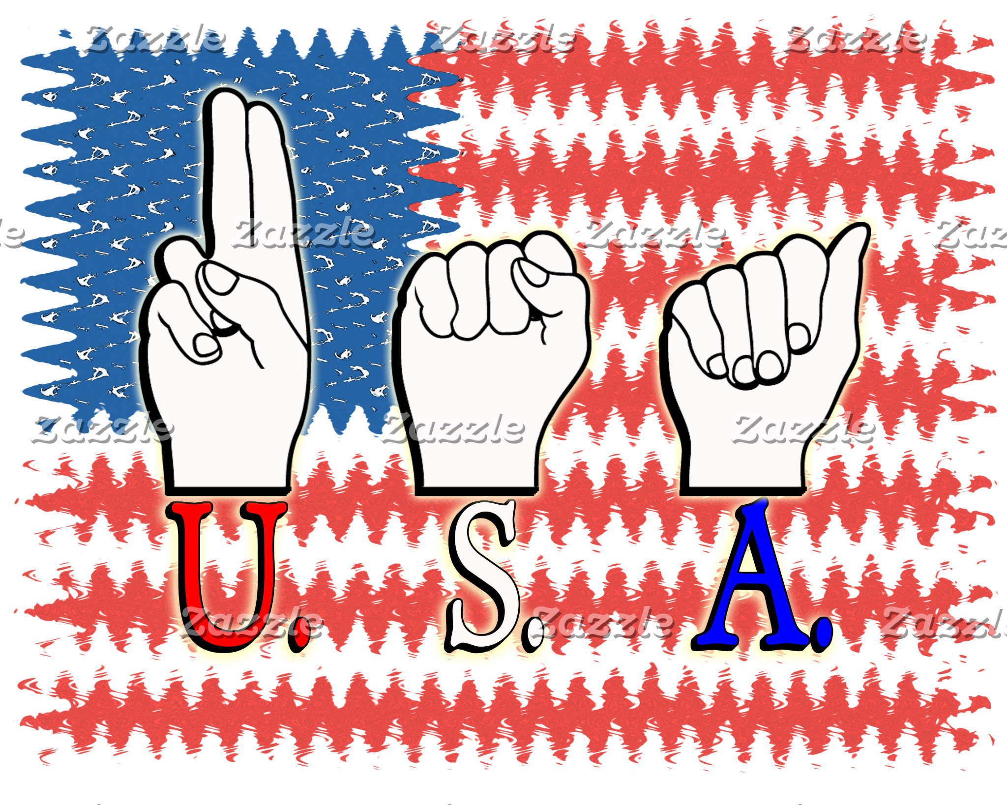 USA DEAF PATRIOTIC FLAG