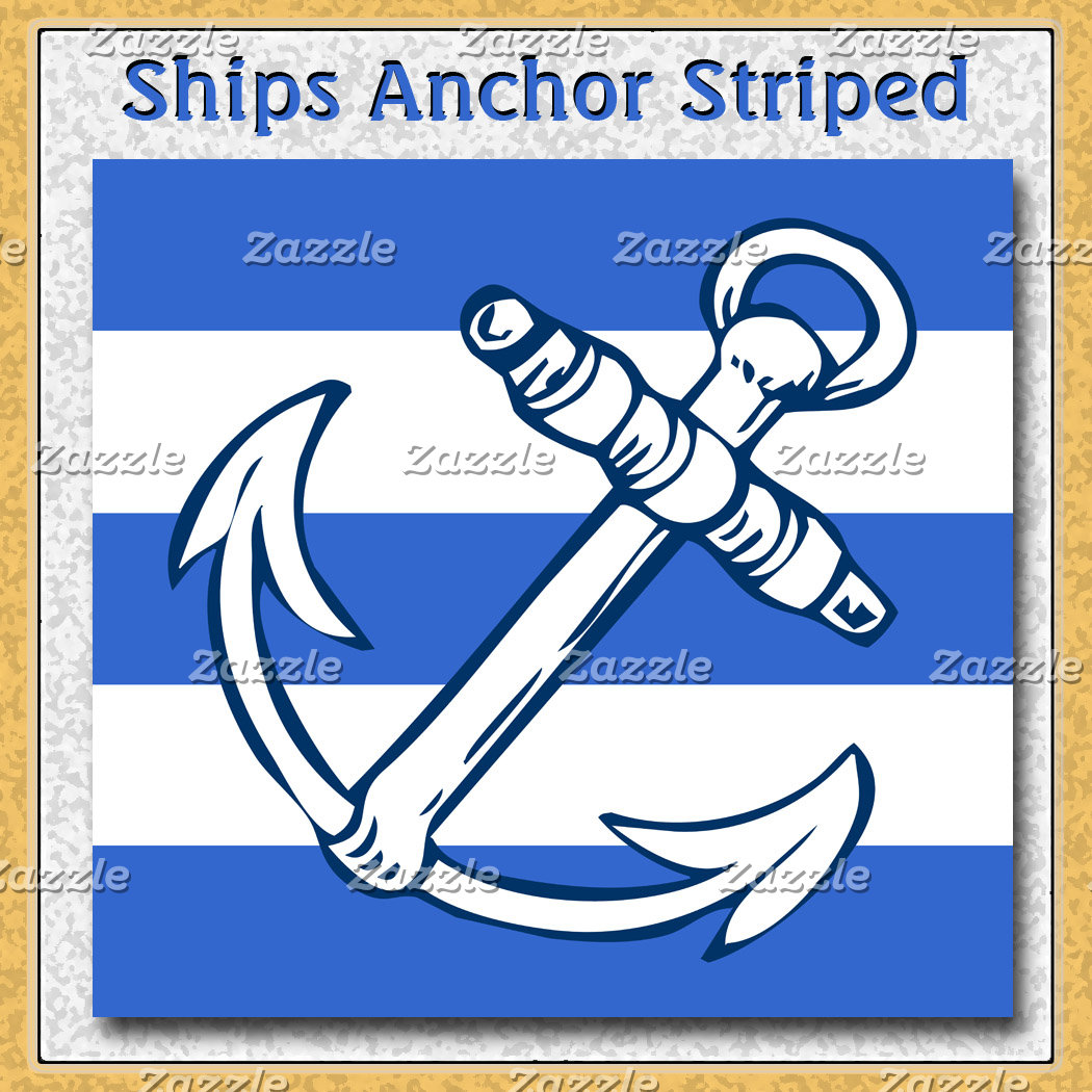 Ships Anchor Blue Stripes