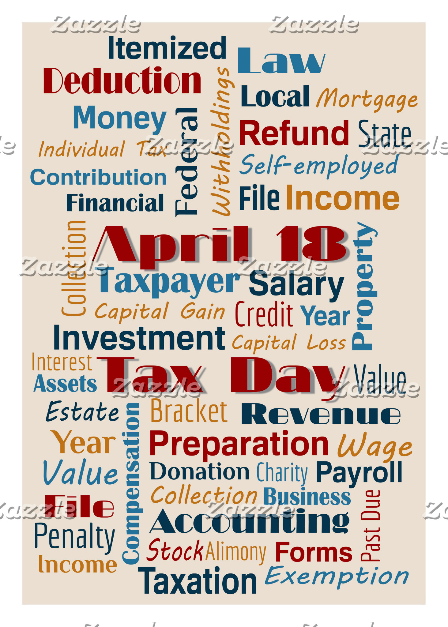 Greeting Cards: TAX DAY