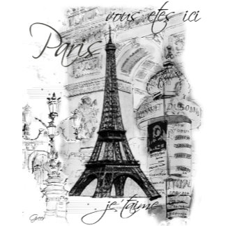 Paris Eiffel Tower Collage