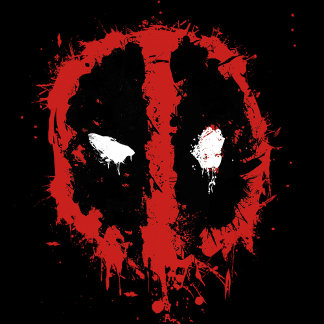 Deadpool Paint Splatter Logo