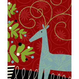 blue pattern reindeer