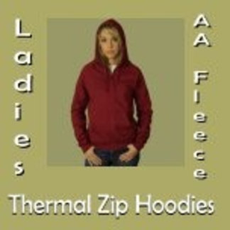 Ladies AA Fleece Thermal Zip Hoodies