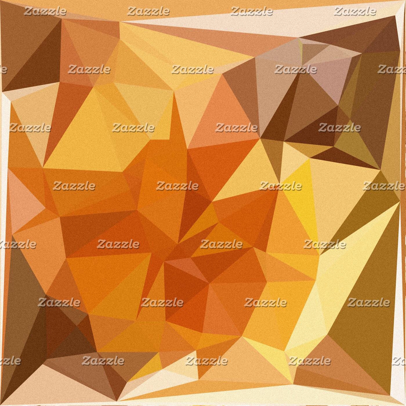 Geometric Patterns | Orange Yellow Triangles