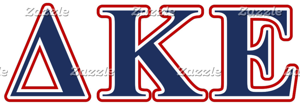 Delta Kappa Epsilon Blue and Red Letters