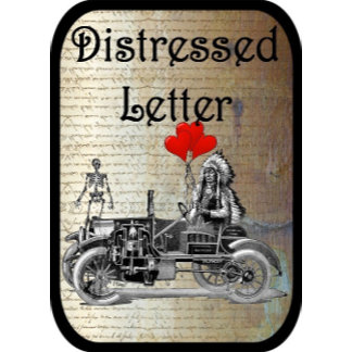 Distressed letter