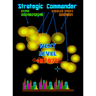 Retro 80s Style Missile Defending Video Game