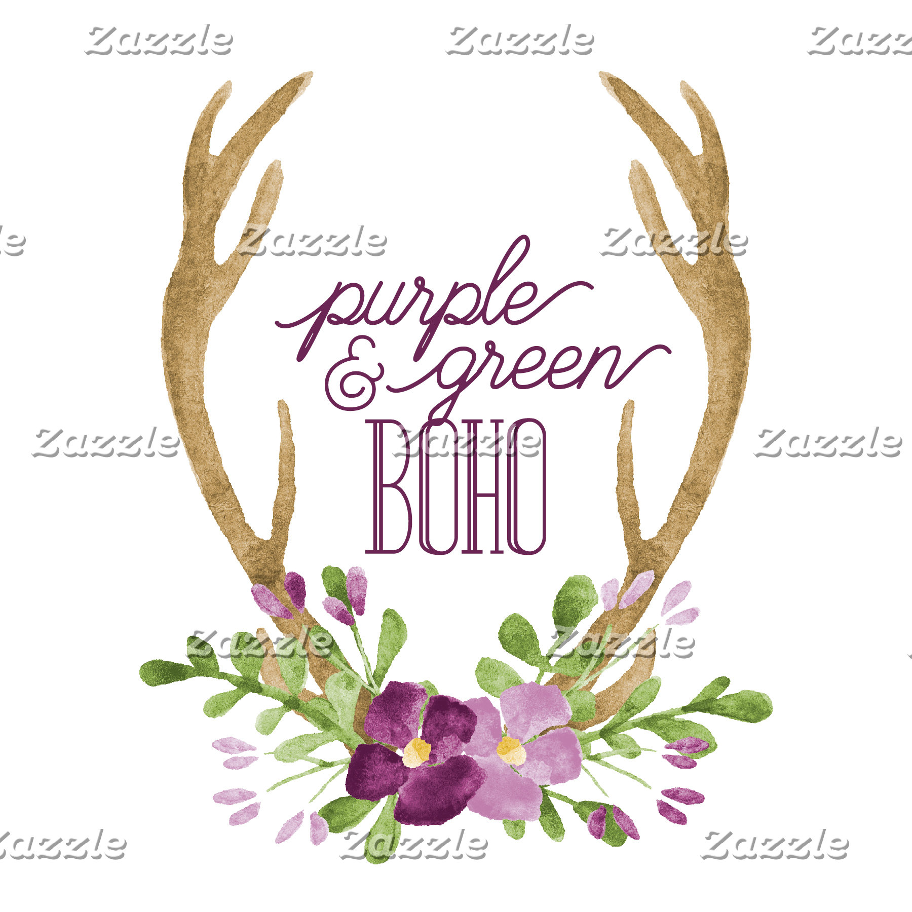 Purple & Green Boho