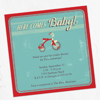 Classic Tricycle Baby Shower Suite