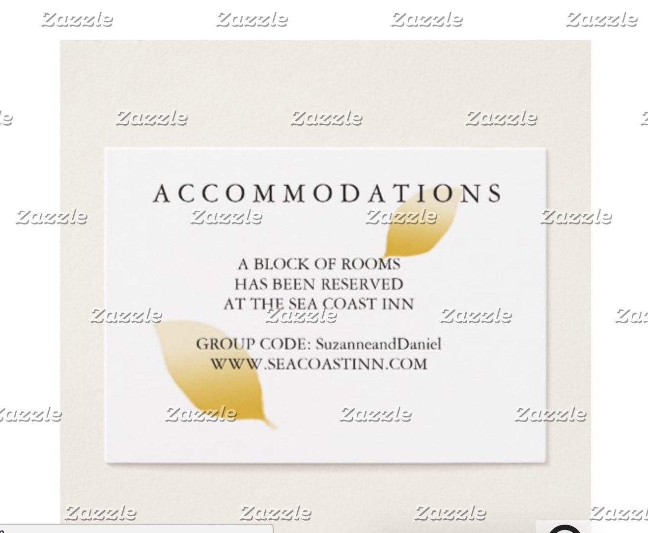 Accommodations Cards