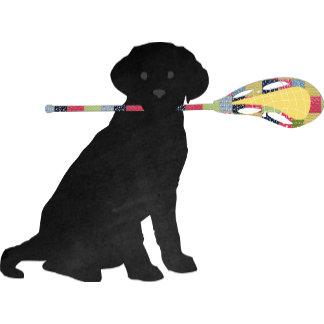 Preppy Black Lab Lax Dog