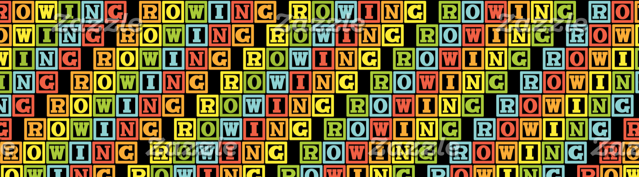 ROWING lettering