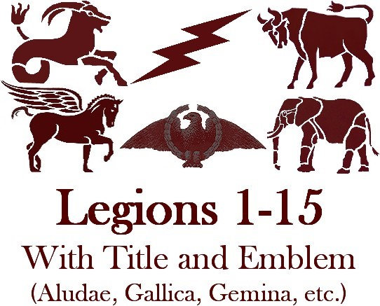 Legions 1-15 Titles and Emblems