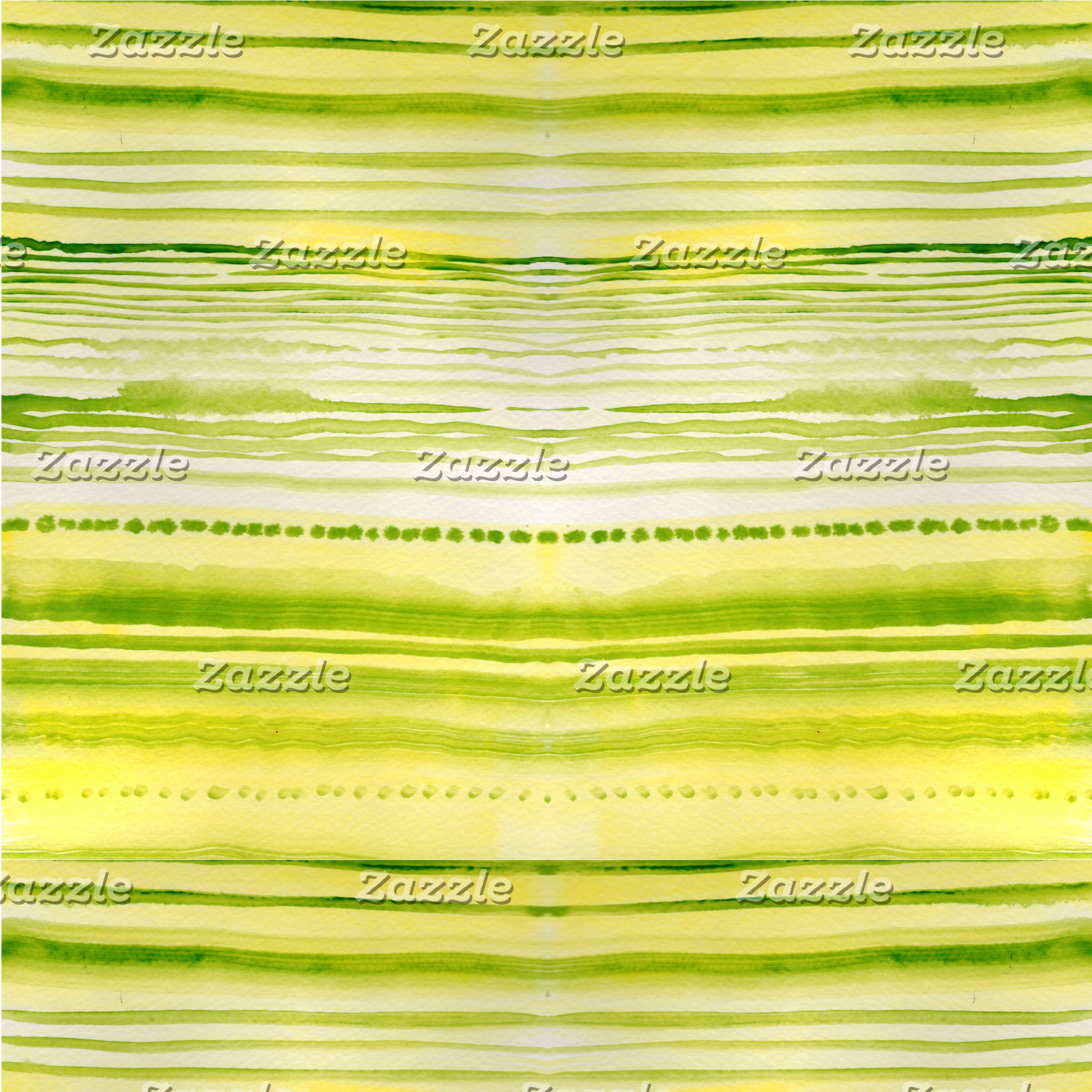 Moss-Green and yellow lines watercolor