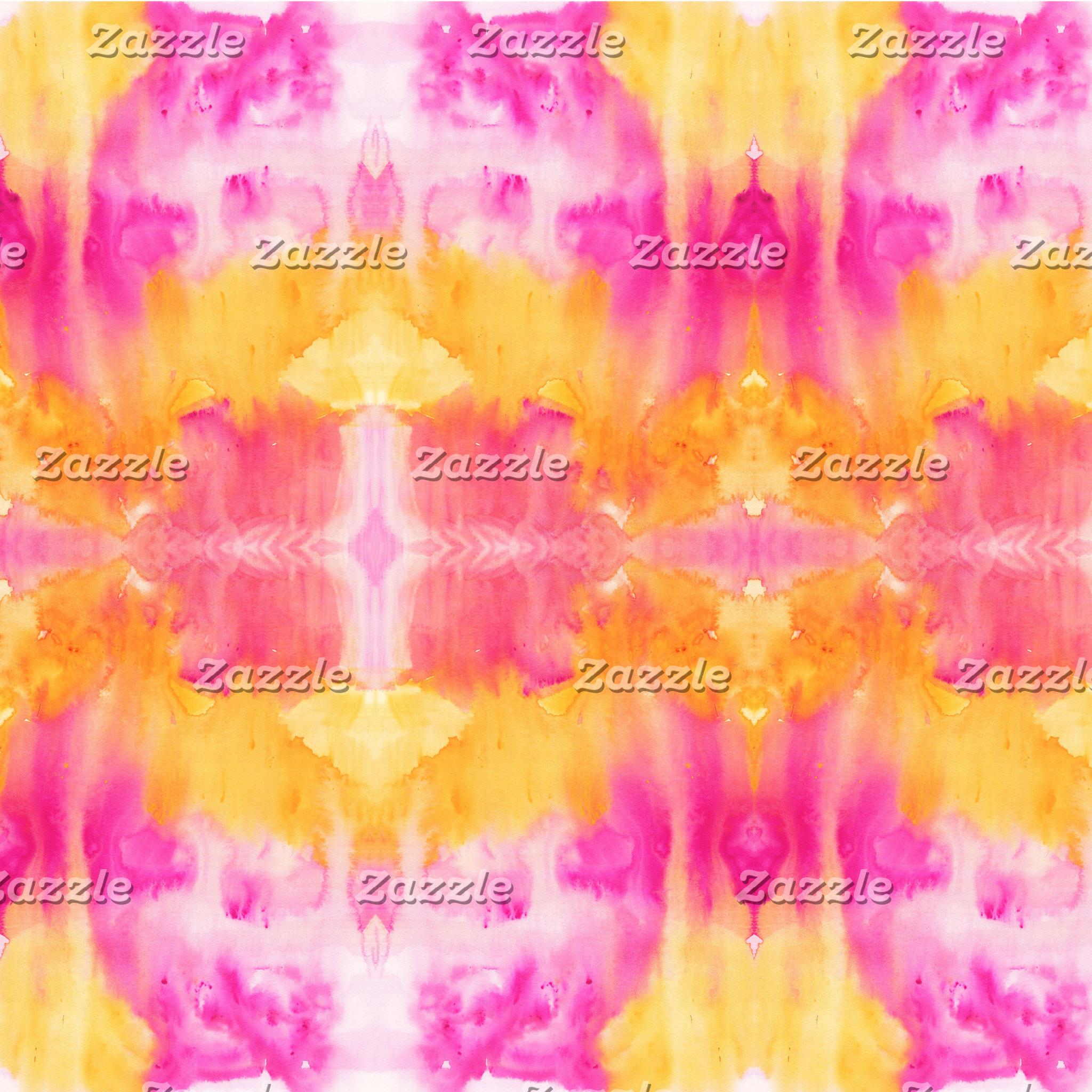 Fire-Pink-yellow-orange watercolor