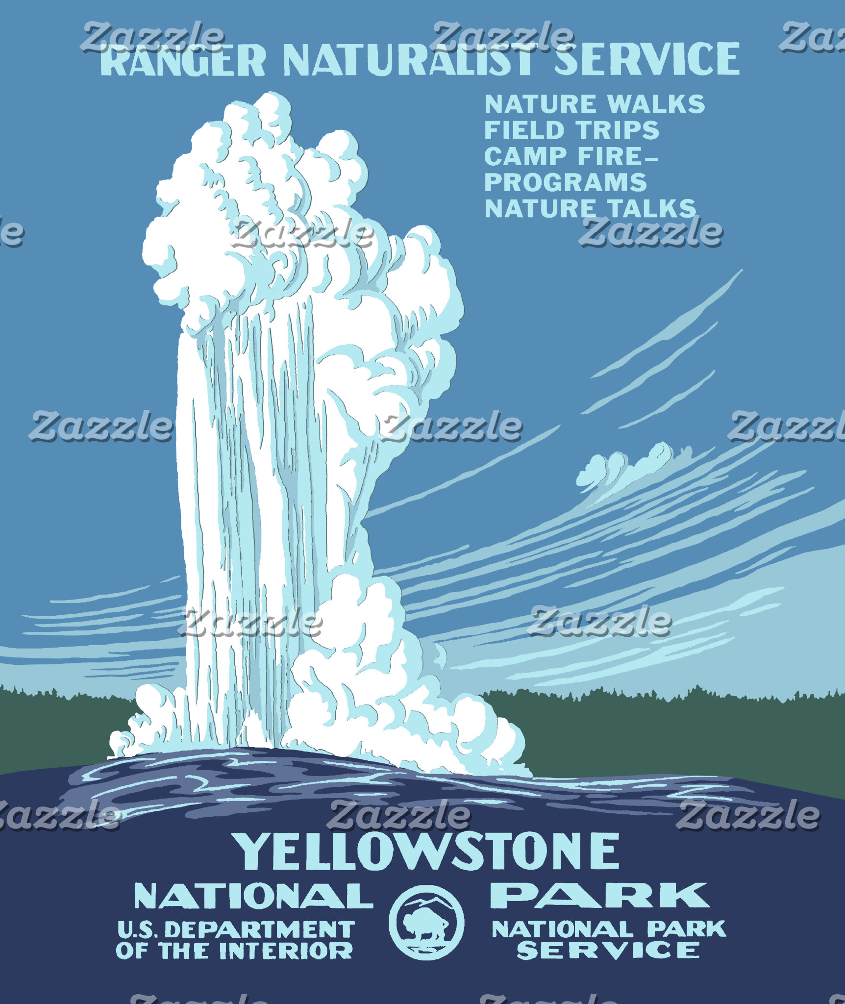 Vintage Yellowstone Poster