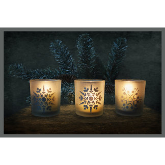 Three Glowing Candles
