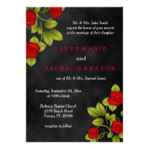 BLACK CHALKBOARD AND RED ROSE WEDDING