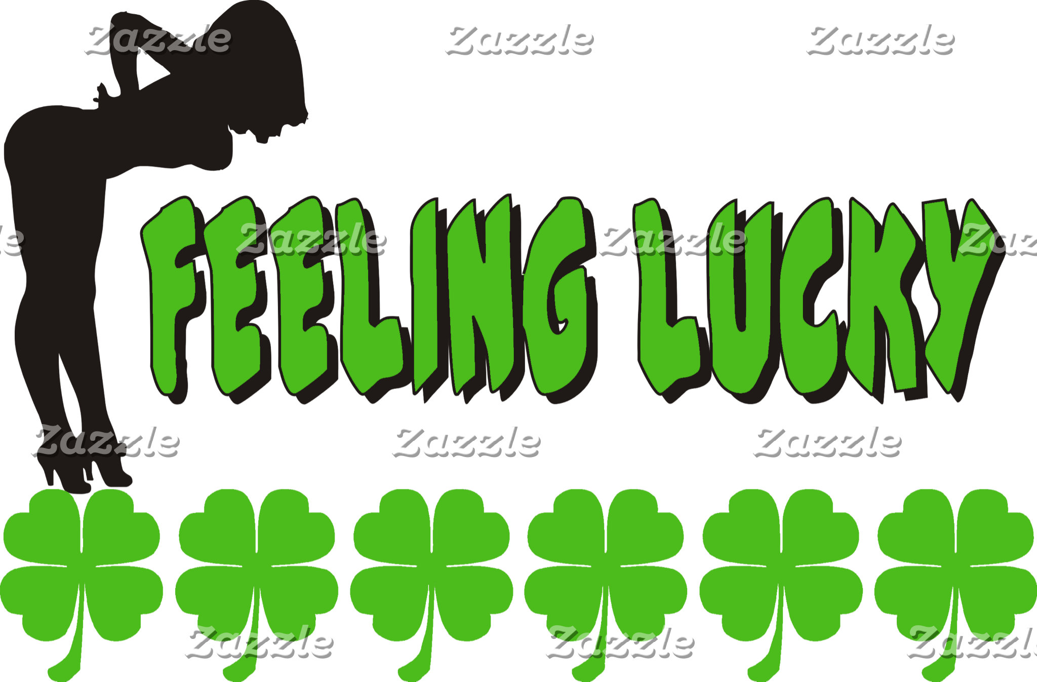 Feeling Lucky Irish Women's T-Shirts Gifts Cards