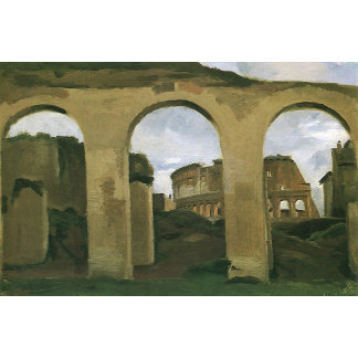Colosseum Seen through the Arcades, Rome