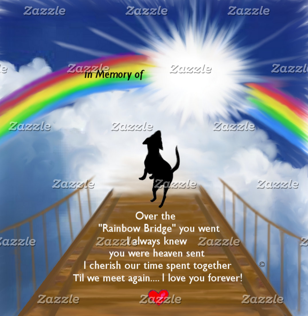 Rainbow Bridge Memorial for Dogs