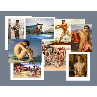 Men in Art Cards