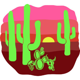 Desert Skulls and Cacti