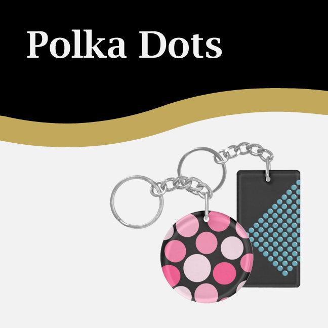 Polka Dot Keychains