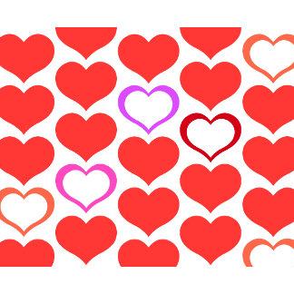 Red Pink Purple Orange Hearts