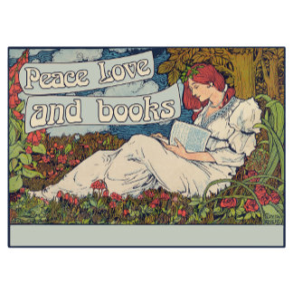 Peace love and reading books vintage reader