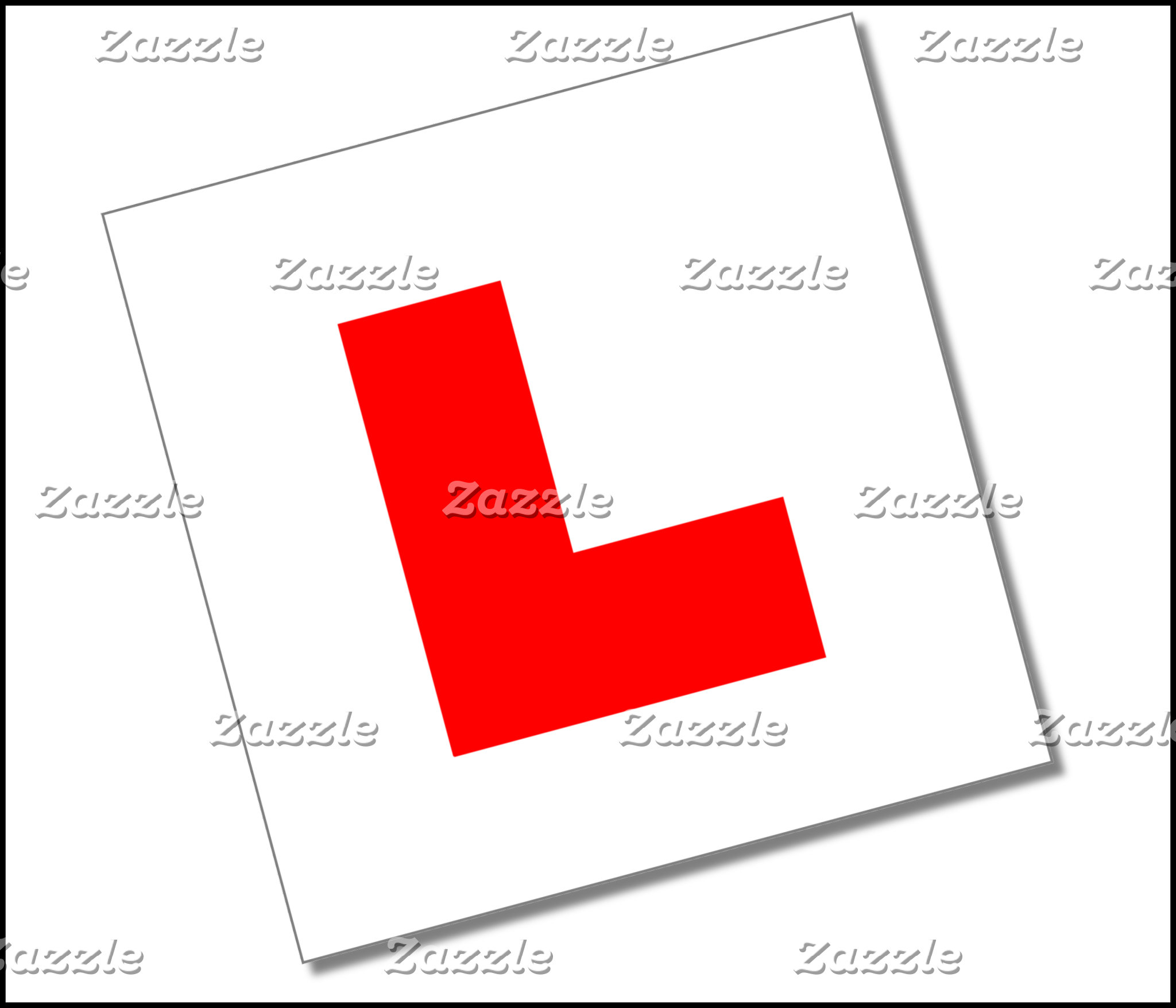 L Plates (red/white)