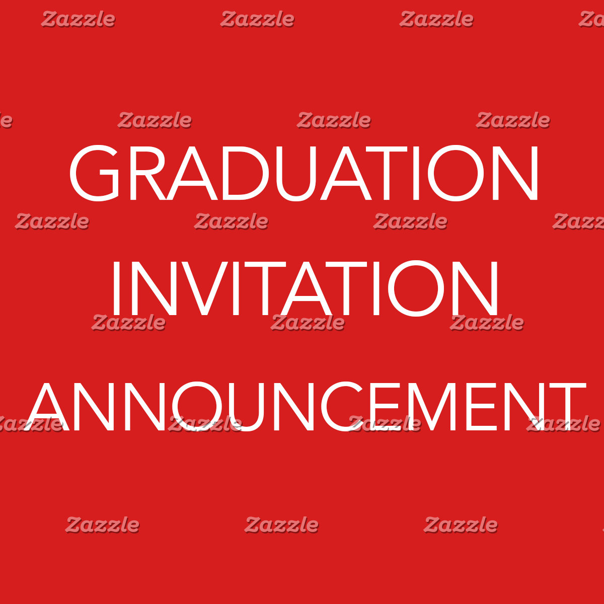 Graduation Invitation/Announcement