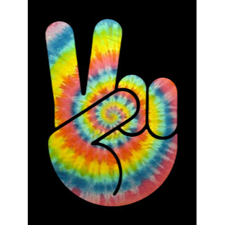 Tie Dye Peace Hand