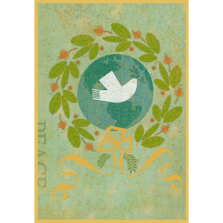 christmas dove with wreath