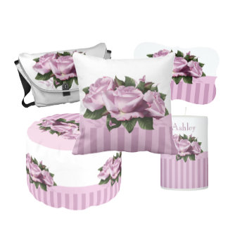 Cottage Shabby Chic Lavender Rose Flower Butterfly