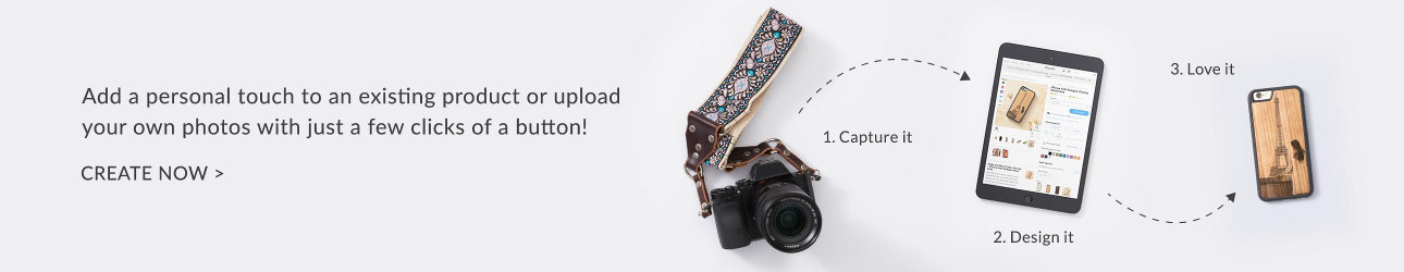 Add a personal touch to an existing product or upload your own photos with just a few clicks of a button! Create Now.
