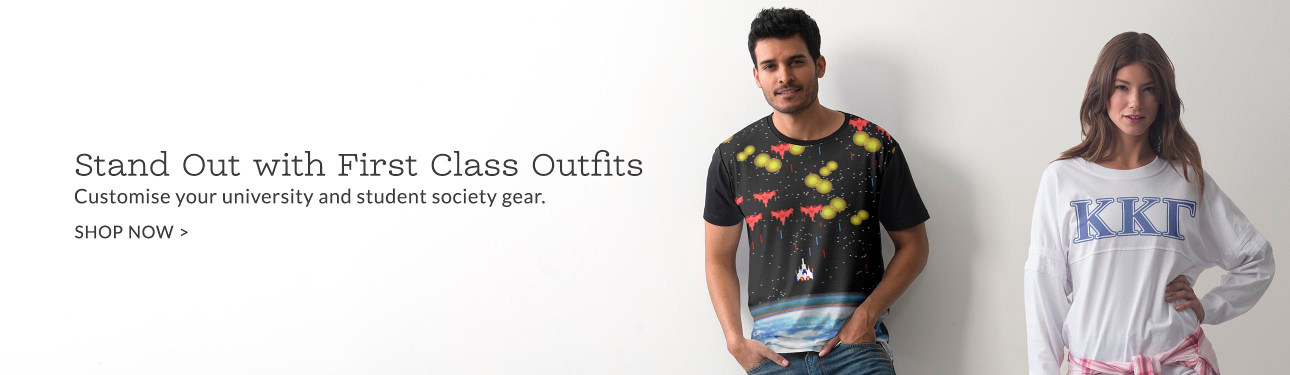 Pass Style 101 with Flying Colors. Customize your university and Greek gear.