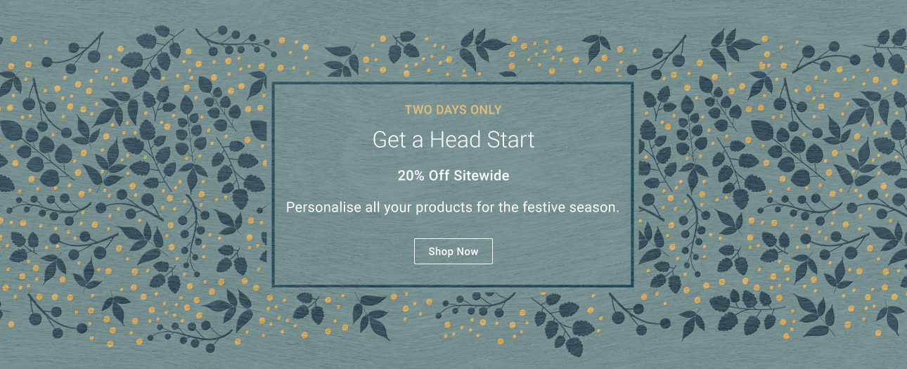 Season Sale 20% Off Sitewide