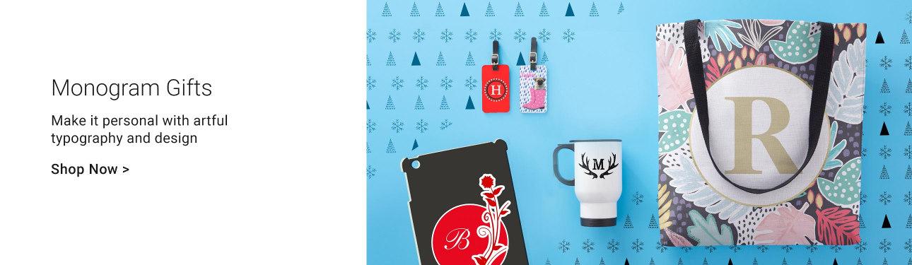 Monogram Christmas Gifts - Initial Christmas Gifts