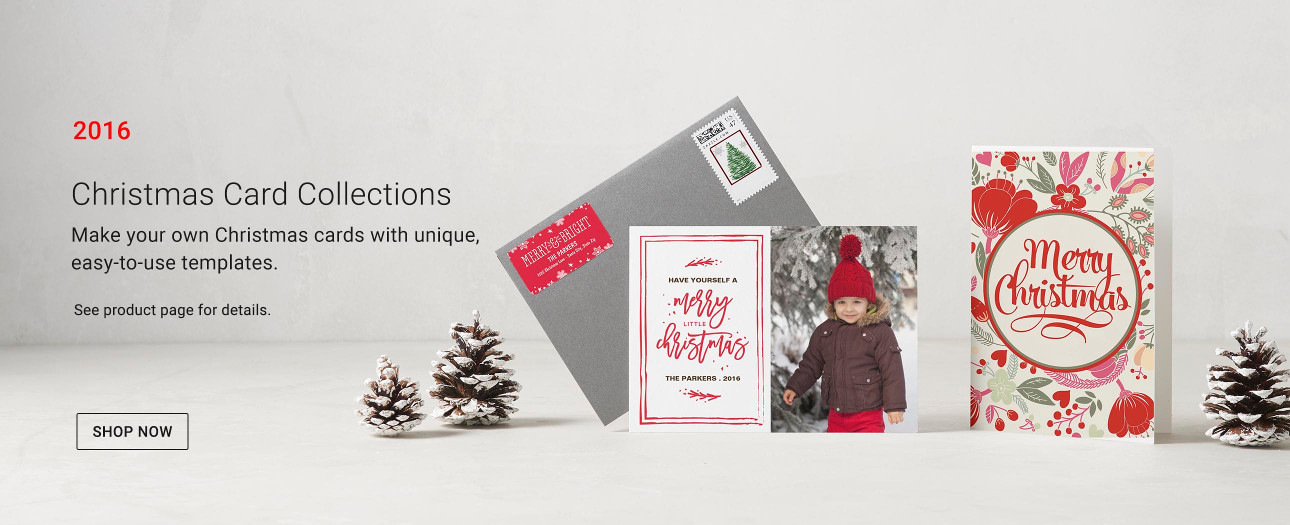 Make Your Own Christmas Cards with unique, easy to use templates