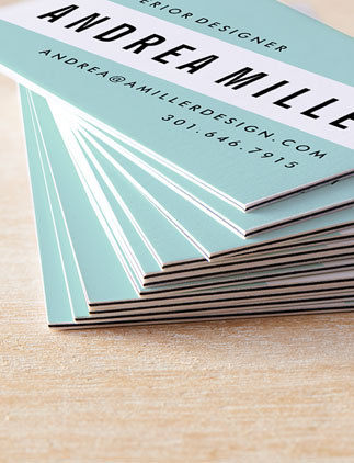 Modern business cards from Zazzle